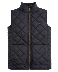 Joules Boys Penbury Quilted Gilet, Marine Navy