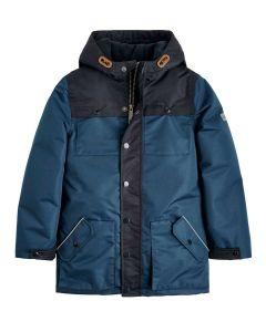 Joules Boys Playground Waterproof Coat, Navy Blue