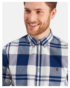 Joules Men's Whittaker Classic Fit Shirt, Indigo Overcheck