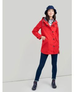 Joules Coast Mid Length Waterproof Jacket, Chilli Pepper Red, 200273