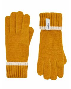 Joules Anya Chenille Gloves, Gold 203381
