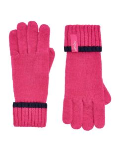 Joules Anya Chenille Gloves, Pink 203381