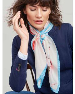 Joules Bloomfield Silk Scarf, Cream Floral | 200173