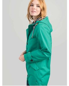 Joules Coast Mid Length Waterproof Jacket, Green, 200273