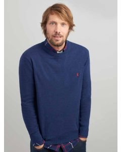 Joules Jarvis Crew Neck Jumper, French Navy Marl