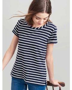 Joules Nessa Stripe Jersey T-Shirt | 201086 - Navy Cream Stripe