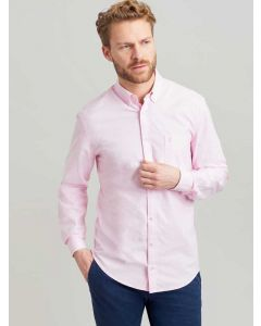 Joules Laundered Oxford Classic Fit Long Sleeve Shirt, Pink 201292