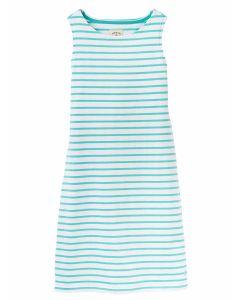 Joules Riva Sleeveless Jersey Dress, Green Stripe 200531