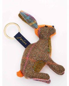 Joules Tweedle Hare Tweed Keyring