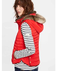 Joules Melbury Padded Gilet, Red