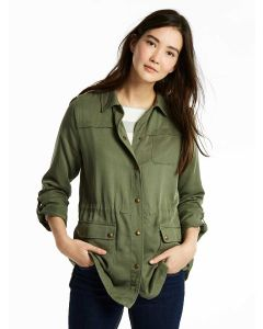 Joules Cassidy Safari Jacket, Soft Khaki Green