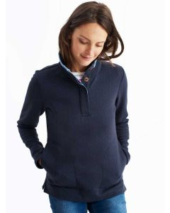 Joules Saunton Quilted Sweatshirt, French Navy