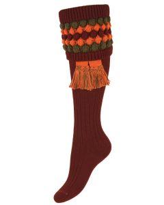 The Lady Angus Burgundy Shooting Sock