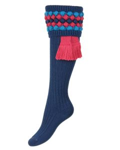 The Lady Angus Shooting Sock, Mid Blue