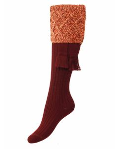 The Lady Forres Shooting Sock - Burgundy