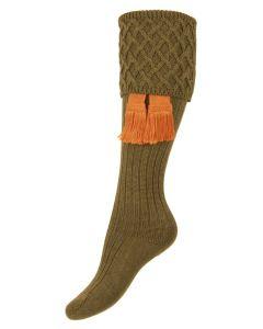 The Lady Rannoch Dark Olive Shooting Sock