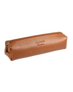 Laurige Leather Square Pencil Case, Tan