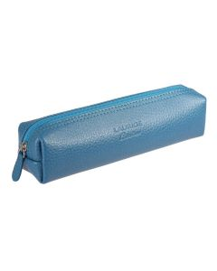 Laurige Leather Square Pencil Case, Turquoise