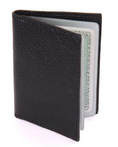 Laurige Leather Credit/Debit Card Holder - holds 12 cards - Black
