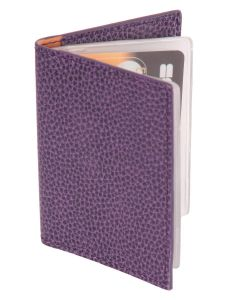 Laurige Leather Credit/Debit Card Holder - holds 12 cards - Aubergine