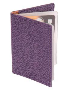 Laurige Leather Credit/Debit Card Holder - holds 12 cards - Aubergine