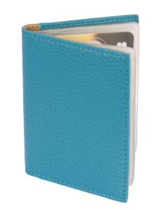 Laurige Leather Credit/Debit Card Holder - holds 12 cards - Turquoise