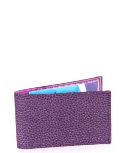 Laurige Leather Swipe/Oyster Card Holder -  Aubergine