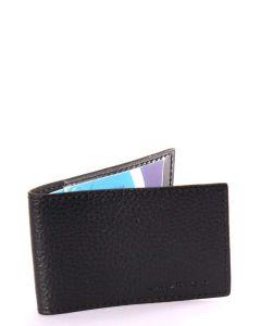 Laurige Leather Swipe/Oyster Card Holder -  Black