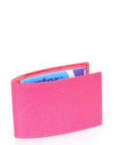 Laurige Leather Swipe/Oyster Card Holder - Fuchsia