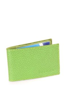 Laurige Leather Swipe/Oyster Card Holder -  Light Green