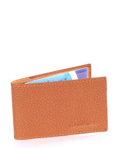 Laurige Leather Swipe/Oyster Card Holder - Tan (Gold)