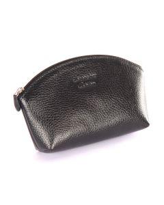 Laurige Leather Make up Bag, Black