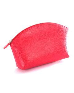 Laurige Leather Make up Bag, Fuchsia
