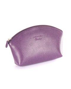 Laurige Leather Make up Bag, Aubergine