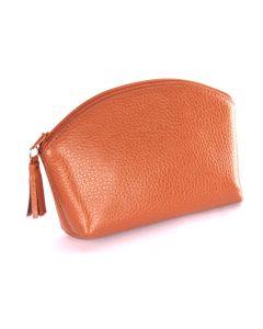 Laurige Leather Make up Bag, Gold