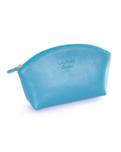 Laurige Leather Make up Bag,  Turquoise