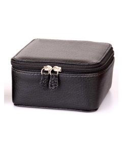 Laurige Leather Jewellery Box, Black