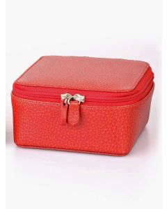 Laurige Leather Jewellery Box, Red