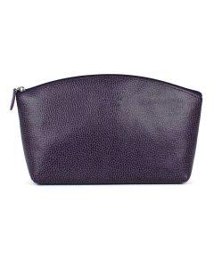 Laurige Leather Travel Vanity Bag, Aubergine