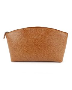 Laurige Leather Travel Vanity Bag, Gold (Tan)