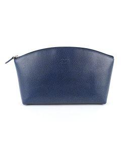 Laurige Deluxe Leather Travel Vanity Bag, Marine