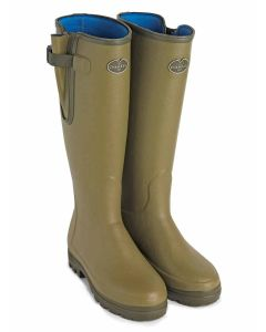 Men's Le Chameau Vierzonord Welly Boot, Vert Vierzon. Neoprene lined wellington boot with gusset.