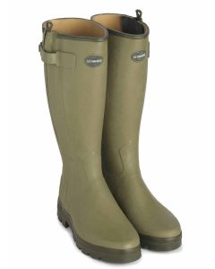 Women's Le Chameau Chasseur, Leather Lined Wellington Boot, with Full Length Zip
