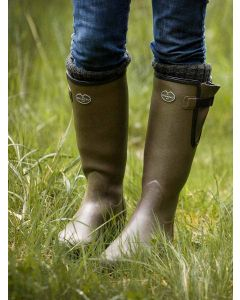 Le Chameau Women's Vierzon Jersey Lined Boots, Vert Vierzon