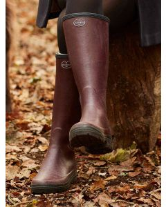 Women's Le Chameau Giverny Jersey Lined Cherry Boot