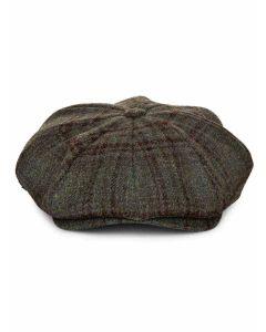 Le Chameau Baker Boy Hat; Women's classic tweed baker boy cap.