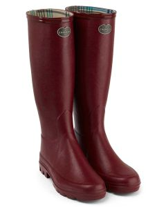 Le Chameau Iris Women's Wellington Boots, Rouge | Deep Red