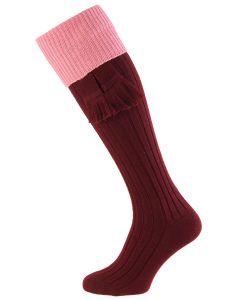 Burgundy with Rosewater Lomond Shooting Sock