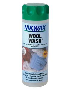 Nikwax Wool Wash for Base Layers; Cleaner for use on woollen items worn next to the skin.