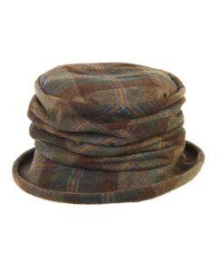 """Olney Tweed Ruched Hat - """"Sue"""""""